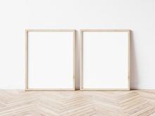 Two Vertical Wooden Frame Mock...