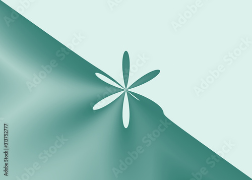 Abstract illustration filled with a gradient color, that has a special shape Fotobehang