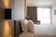 Modern interior hotel bed room