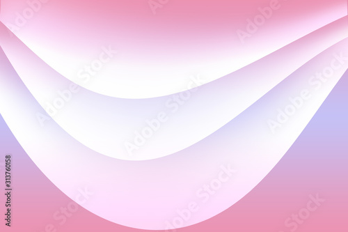 Abstract pink background with wave gradient shapes Design for your header, advertisement, poster, banner Canvas Print