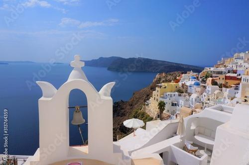 Fototapeta santorini island in greece obraz
