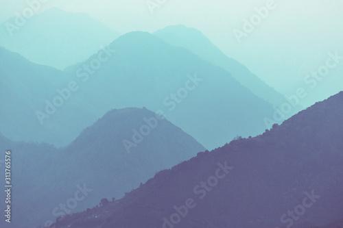 obraz dibond Mountains silhouette