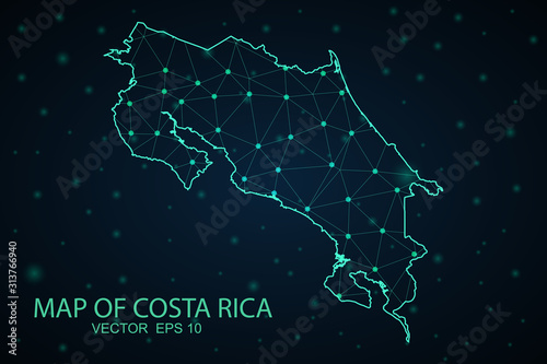 Photo Map of costa Rica