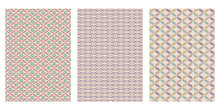 Japanese Geometric Cherry Blossom, Overlapping Floral Oval, Diagonal Flower Abstract Vector Background Collection