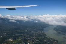 Countryside Aerial Along Keelu...