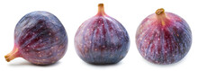 Figs Isolated On White. Ripe Fresh Fig Half Clipping Path. Figs Collection