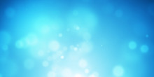 Abstract Background Blue Bokeh Beautiful Bright Light Glitter Sparkles. Soft Color Backdrop. Template For Advertising Design, Cosmetic, Banner, Poster. Display Product Or Montage. 3D Rendering