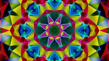 Kaleidoscope Mandala Art Design Abstract Background
