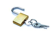 Brass Padlock Unlock With Key ...