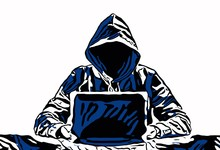 Hacker With Notebook. Vector I...