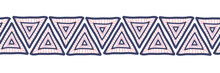 Hand Drawn Triangles Seamless ...
