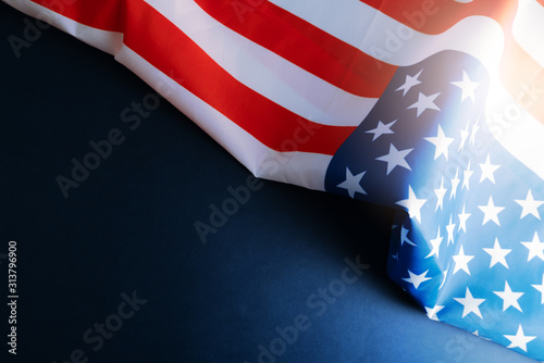 Fototapeta america flag with copyspace for national holiday Presidents day concept Martin L