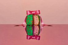 Painted Pork Pie With A Pink R...