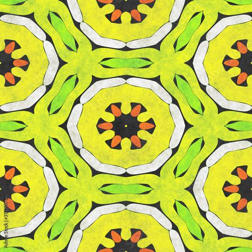 Cuadros en Lienzo  Abstract fabric pattern- mosaic illustration