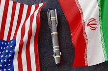 Iranian Flag And USA United St...