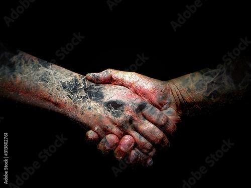 Fototapeta  握手を交わす
