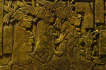 Ancient Mayan Drawings On The ...