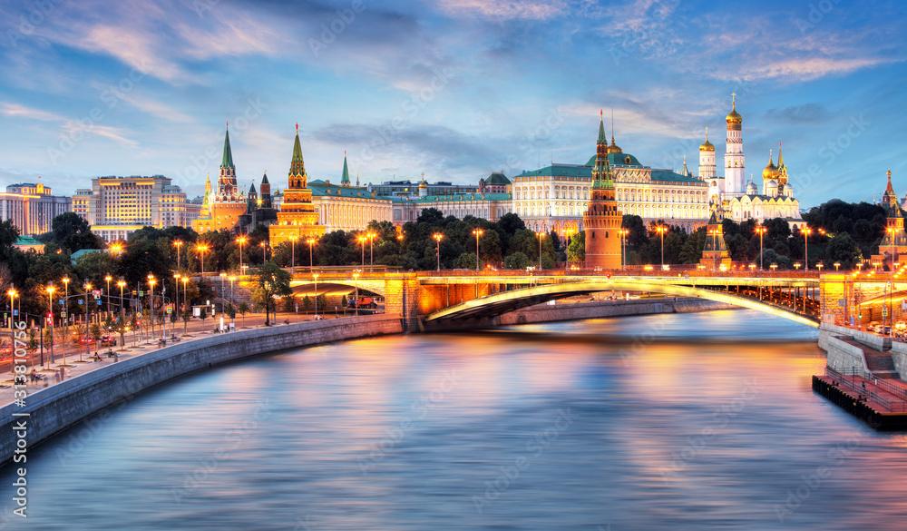 Fototapeta Moscow, Kremlin and Moskva River, Russia