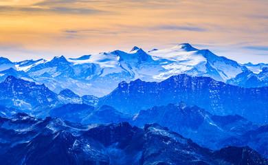 Obraz na Szkle Góry view at the kitzsteinhorn mountain in austria