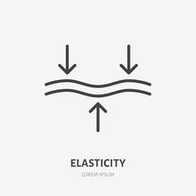 Elasticity Line Icon, Vector P...