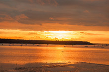 Golden Sunset On Poole Harbour
