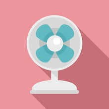 Clean Room Fan Icon. Flat Illu...