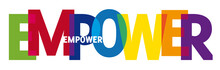 Empower Word Creative Colorful...