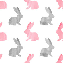 Cute Watercolor Bunny Pattern....