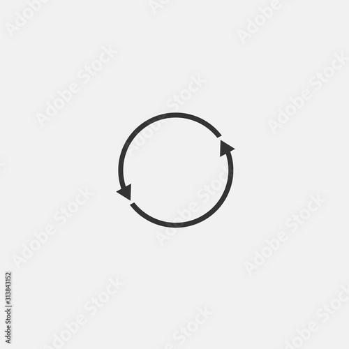 Cuadros en Lienzo  Rotating arrow vector icon counter clockwise