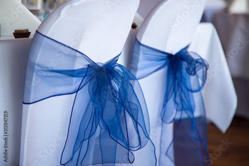 Foto  Décoration de table jour d'un mariage après la cérémonie