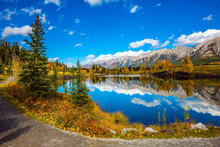 Path Around The Lake In Canmore