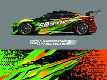 Racing Car Wrap Design Vector...