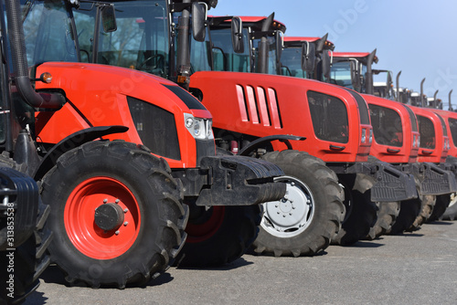 tractor park of agriculture company