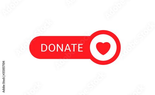 Obraz na plátně Donate button icon