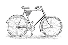 Old Bicycle / Vintage Illustra...