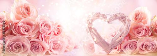 Fototapeta Flower composition with roses. obraz
