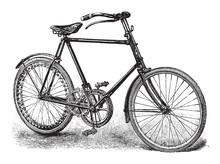 Old Bicycle / Vintage Illustra...