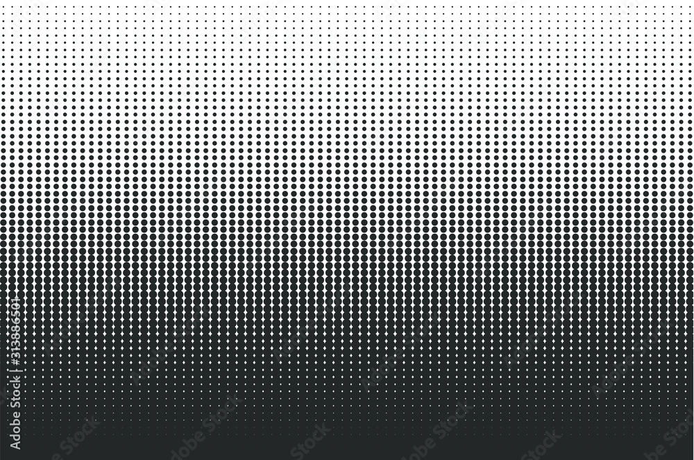Fototapeta Dots halftone background. Overlay texture. Point pattern wallpaper. Abstract dot geometric circle shape backdrop. Vector illustration image. Isolated on white Background.
