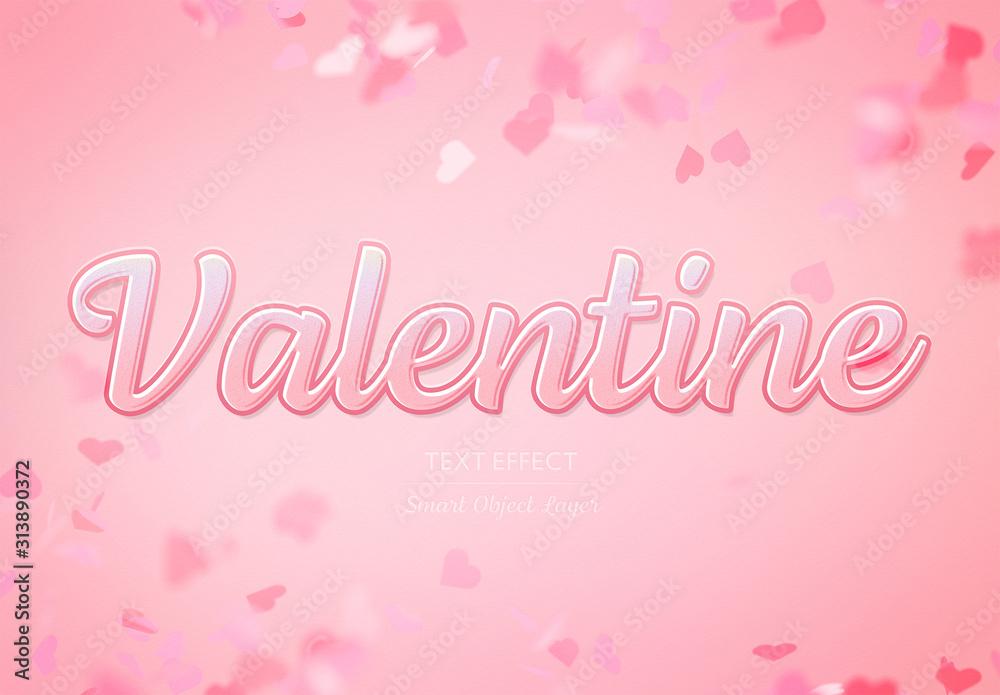 Fototapeta Valentine's Day Text Effect Mockup