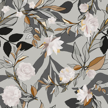 Seamless Pattern With White Ro...
