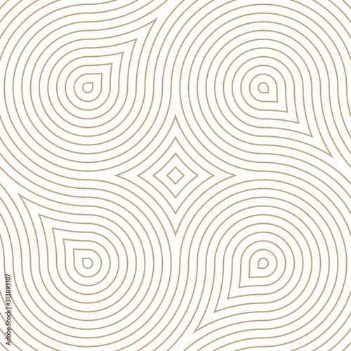 Photo  Vector geometric pattern. Seamless braided linear pattern.