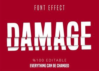 Damage text, editable font effect