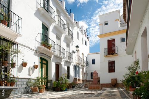 calle del pueblo de Cómpeta, Málaga