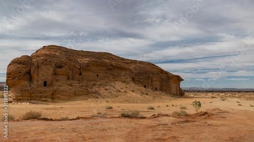 Jabal AlAhmar at Mada'in Saleh (Al-Hijr, Hegra) archaeological site near Al Ula, Canvas Print