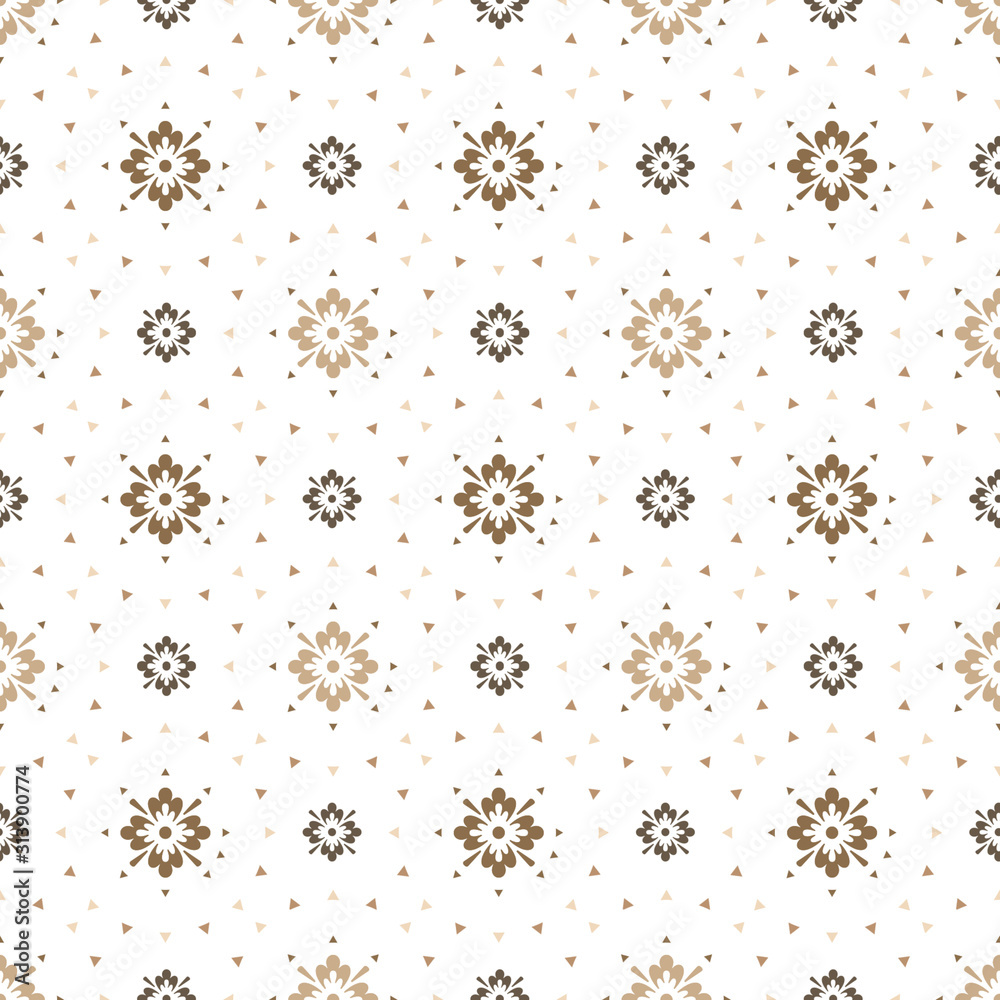 Seamless pattern with shapes on a toned background. Retro style