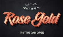 Rose Gold Text, Editable Font Effect