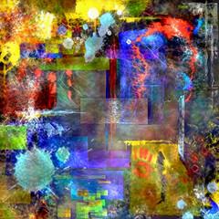 Modern trendy abstract art. Digital painting