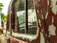 Old Classic Abandoned Rusty Car