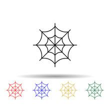 Spider Web Multi Color Style I...
