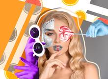 Creative Collage With Fashiona...